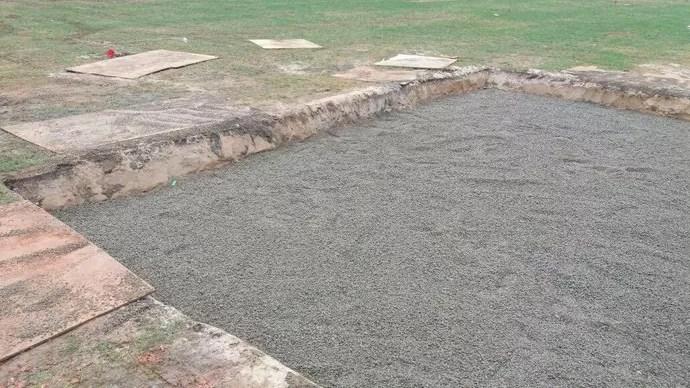 Reparo no gramado do Maracanã  (Foto: Divulgação)
