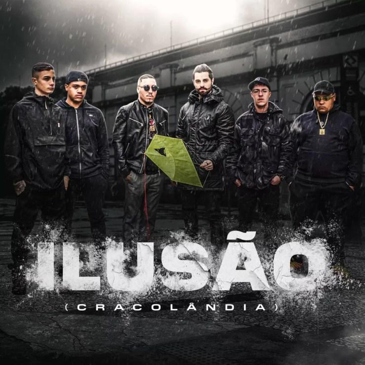 Alok, MC Hariel, MC Davi, MC Ryan SP, Salvador da Rima e Djay W na capa de 'Ilusão (Cracolândia)' — Foto: Divulgação