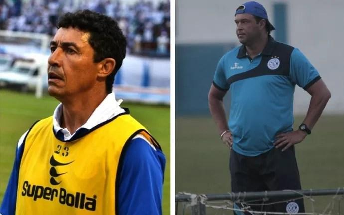 Betinho teve 1º turno ruim. Com Fernandes, números melhoraram, mas ainda não são suficientes (Foto: Arte GloboEsporte.com)