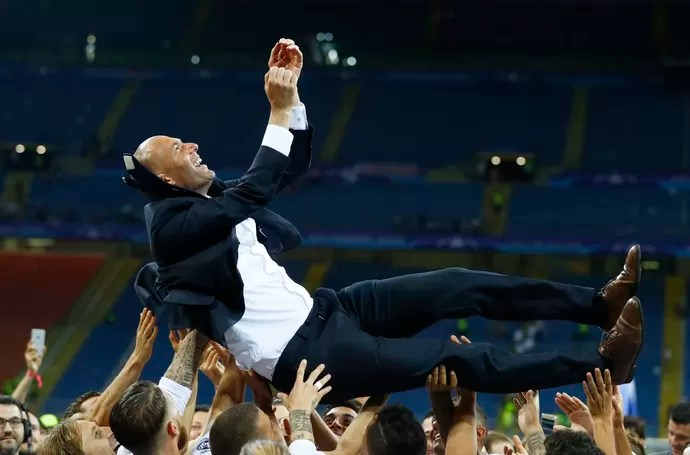 Zidane Real Madrid x Atlético de Madrid (Foto: Reuters)