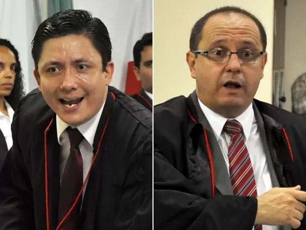 Promotor Henry Wagner e o advogado Ércio Quaresma travaram debate com ofensas (Foto: Renata Caldeira/ Tribunal de Justiça de Minas Gerais)