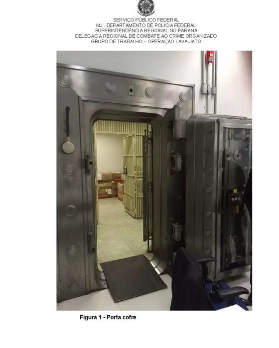 Porta de cofre da agência do Banco do Brasil do centro de SP (Foto: Reprodução)