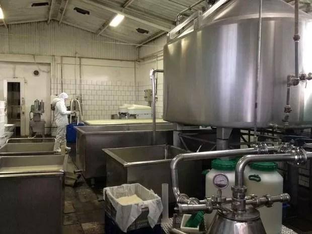 MP esteve em empresa de fabricação de queijo (Foto: Marjuliê Martini/Ministério Público)