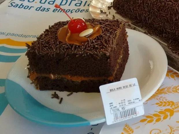 Popular nega maluca virou bolo afrodescendente em Rio Grande (Foto: Pão da Praia/Divulgação)