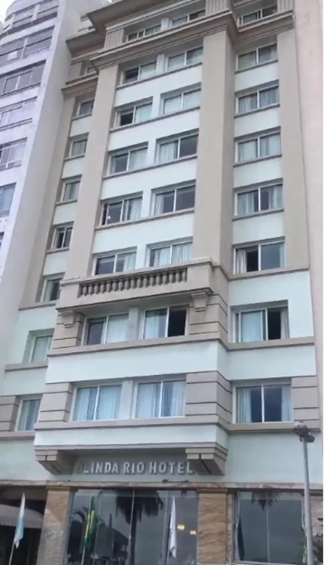 Talyssa Oliveira Taques caiu da janela do 3° andar do hotel onde estava hospedada no RJ — Foto: Reprodução