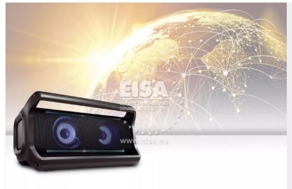 LG XBOOM foi escolhida como a melhor caixa de som do mundo pela EISA — Foto: Divulgação/EISA
