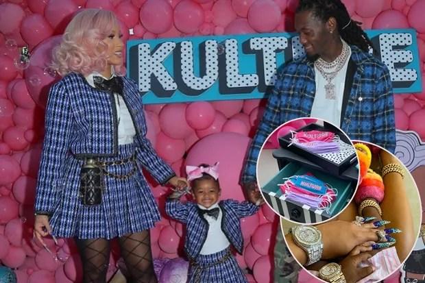 Cardi B e Offset promoveram festão de luxo para a pequena Kulture (Foto: Reprodução / Instagram)