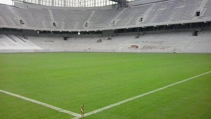 Arena da Baixada, estádio do Atlético-PR, com linhas (Foto: André Vidolin/Arquivo pessoal)