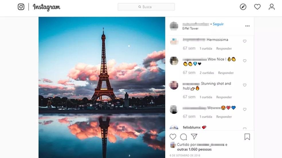 As luzes noturnas da Torre Eiffel possuem direitos autorais — Foto: Reprodução/Instagram