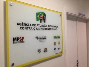 Agência de Atuação Integrada contra o Crime Organizado funciona na Secretaria da Segurança Pública de São Paulo (Foto: Kleber Tomaz / G1)