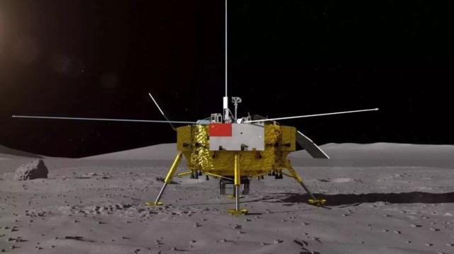change4 lander render - ESPAÇO: China realizará um feito inédito na Exploração Espacial