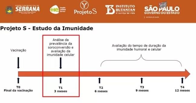 Etapas do estudo de imunidade em Serrana, SP — Foto: Reprodução/Facebook/Prefeitura de Serrana