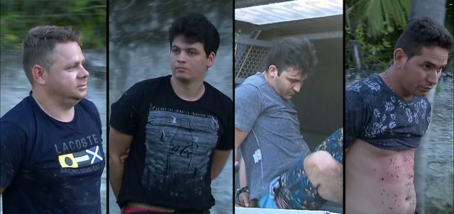 Quatro homens foram presos em agosto suspeito de ataque a carro-forte, em Lucena (Foto: Reprodução/TV Cabo Branco)