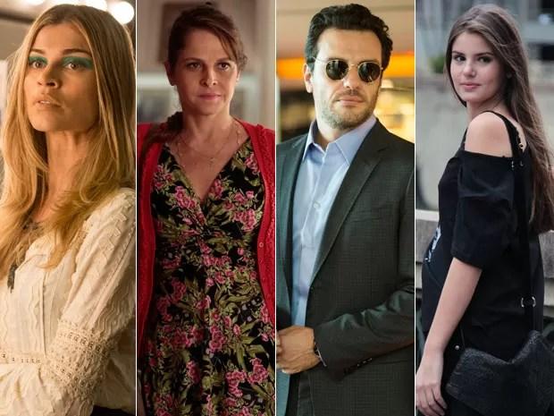 Grazi Massafera, Drica Moraes, Rodrigo Lombardi e Camila Queiroz estrelam em nova novela das 11 (Foto: Gshow)
