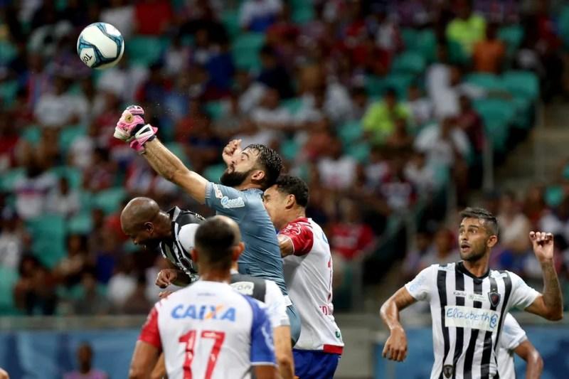 Vitória sobre o Bahia fora de casa motivou o elenco botafoguense a buscar a liderança do Grupo C da Copa do Nordeste (Foto: Felipe Oliveira / EC Bahia)