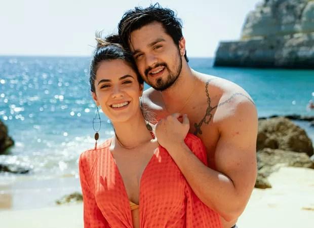 Luan Santana e Jade Magalhães (Foto: Bruno Fioravanti)