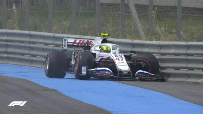 Mick Schumacher bateu nos segundos finais do Q1 na classificação do GP da França  — Foto: F1