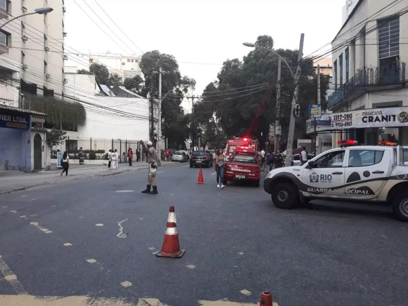 Guardas Municipais atuam nas ruas do entorno do Hospital Sírio-Libanês Rio — Foto: Reprodução/ Centro de Operações
