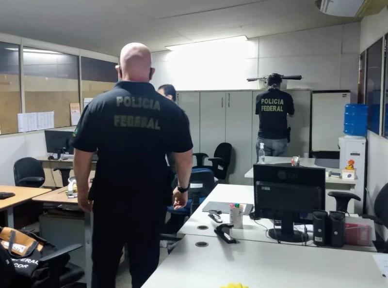 Policia Federal faz buscas na sede da Secretaria Estadual de Educação do Piauí, em Teresina — Foto: Polícia Federal