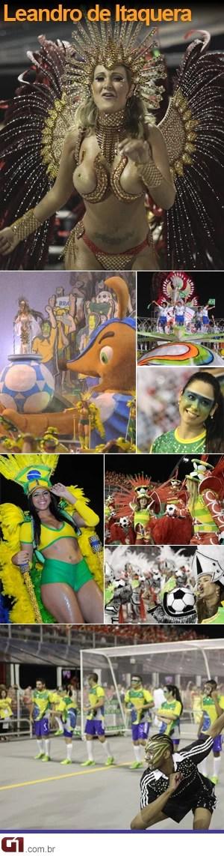 Leandro de Itaquera carnaval de são paulo 2014 (Foto: G1)