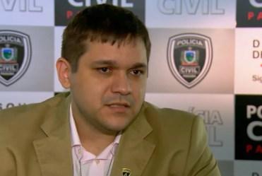Delegacia de Defraudações de João Pessoa, Lucas Sá foi transferido para o cargo de delegado adjunto de Delegacia Especializada — Foto: Reprodução / TV Cabo Branco