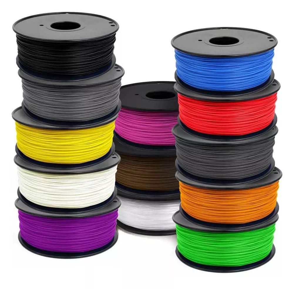Filamentos de plástico ABS são os mais populares (Foto: Divulgação/Yolo3D)