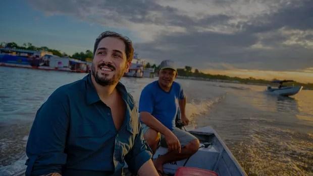 João Campos-Silva um modelo de manejo do maior peixe de água doce do Brasil, o Pirarucu  (Foto: Divulgação)