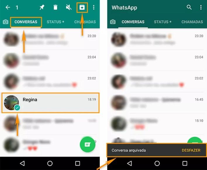 Verificar os chats arquivados no WhatsApp é uma das formas para liberar espaço na memória do celular  — Foto: Foto: Reprodução/Barbara Mannara