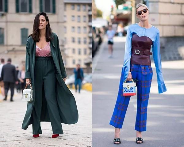 As mini-bolsas também apareceram com frequência no street style (Foto: Imaxtree)