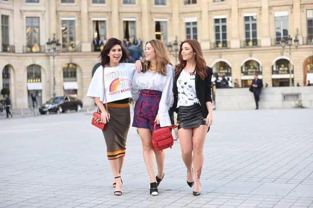 Fernanda Paes Leme, Mica Rocha e Mariana Sampaio em Paris (Foto: @fotografobrasileiroemparis para L'Oréal Paris)
