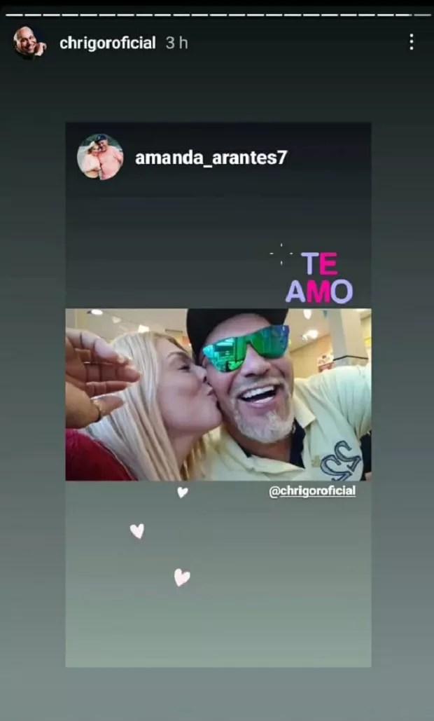 Chrigor assume namoro com Amanda Arantes (Foto: Reprodução/Instagram)