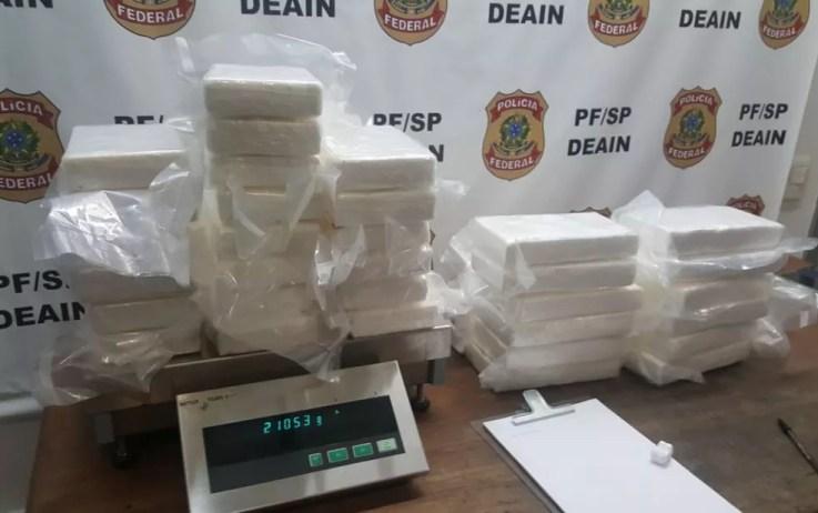 Drogas encontradas em mala em Cumbica (Foto: Divulgação/Polícia Federal)