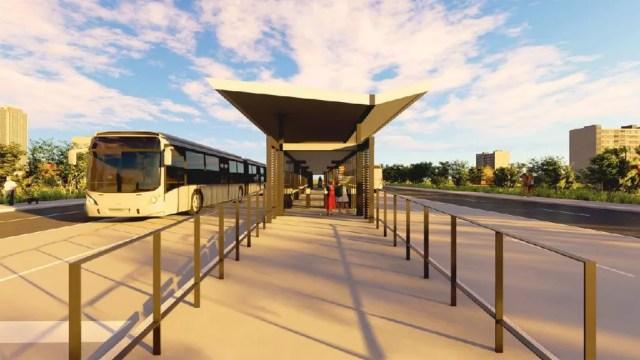Anteprojeto do BRT em Cuiabá e Várzea Grande — Foto: Divulgação