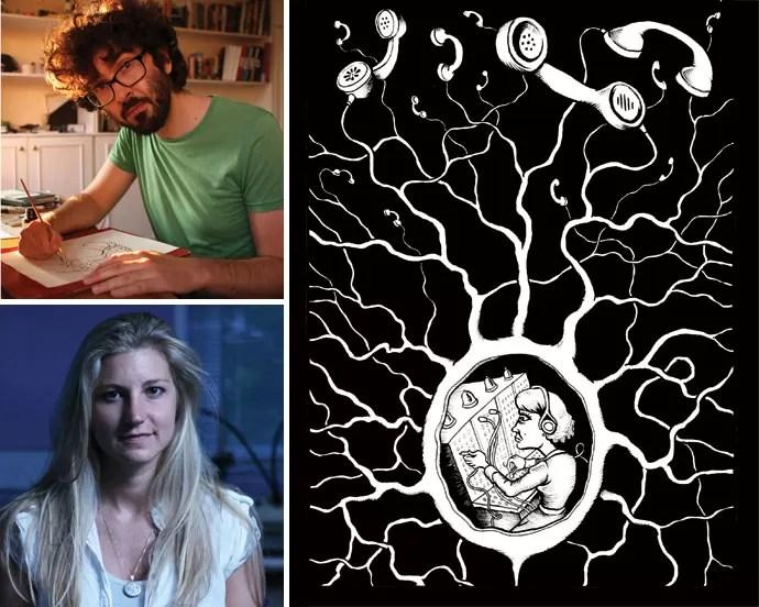 Narrativa fragmentada: Para Farinella (no alto) e Hana, histórias em quadrinhos, como a Neurocomic (ao lado), são o formato ideal para discutir ciência e outros temas mais complexos (Foto: Divulgação)