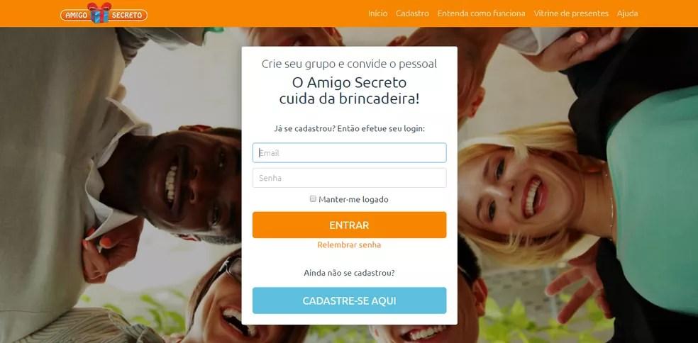 Amigo Secreto: ferramenta online permite organizar sorteio do evento — Foto: Reprodução/Caio Bersot