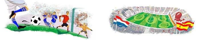 O jogo de abertura e a final da Copa do Mundo na África, em 2010, também ganharam homenagem (Foto: Reprodução/Google)