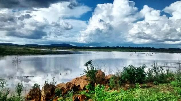 Barragem de Marrecas, em Custódia (Foto: Divulgação/Compesa)