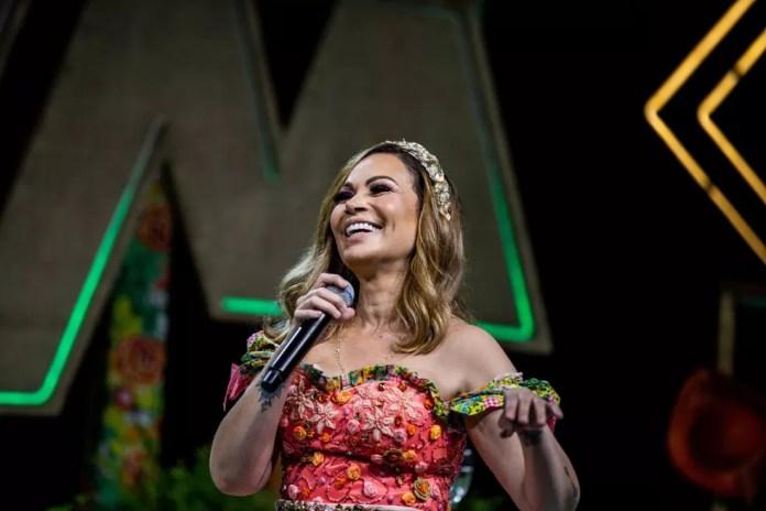 Solange Almeida na live São João do Nordeste em junho de 2020 — Foto: Thiago Gadelha
