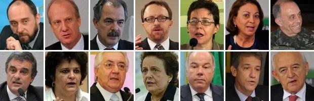 14 últimos ministros anunciados para o segundo mandato de Dilma VALE ESSE (Foto: Editoria de Arte/G1)