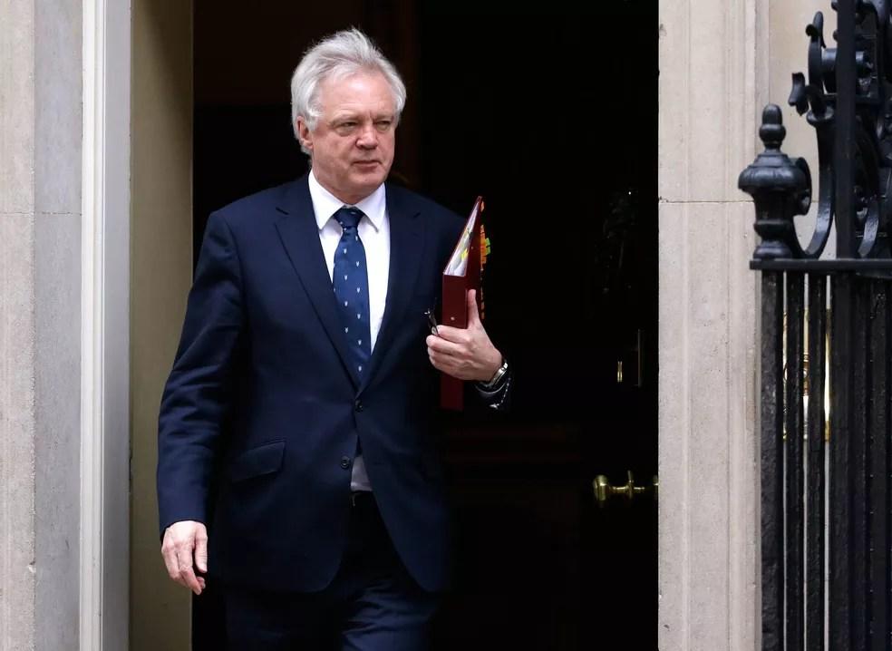 O ministro do Brexit, David Davis (Foto: Alastair Grant/AP)