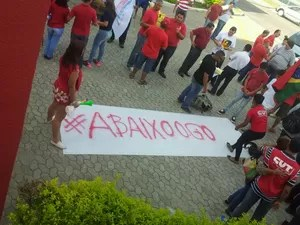 Manifestação no Espírito Santo (Foto: Naiara Arpini/ G1)