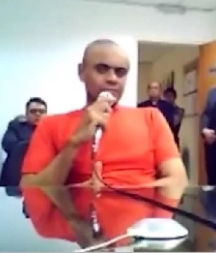Adélio Bispo em audiência de custódia em Juiz de Fora — Foto: Reprodução/TV Globo