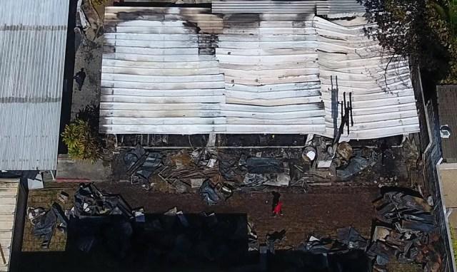 Incêndio atingiu alojamento do Ninho do Urubu e matou 10 atletas da base — Foto: Agência Estado