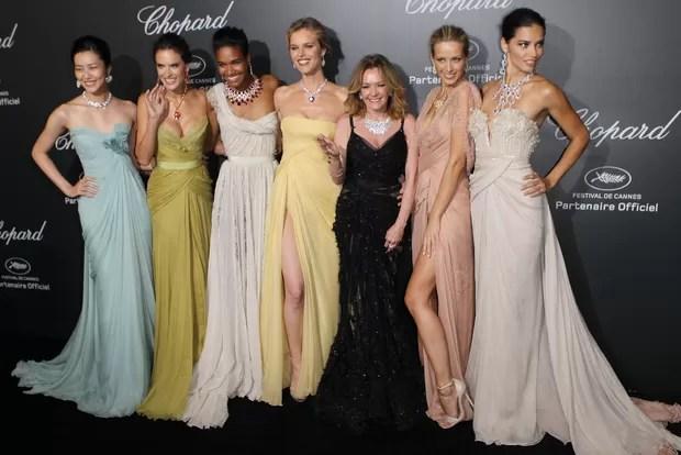 Modelos em Cannes (Foto: AFP / Agência)