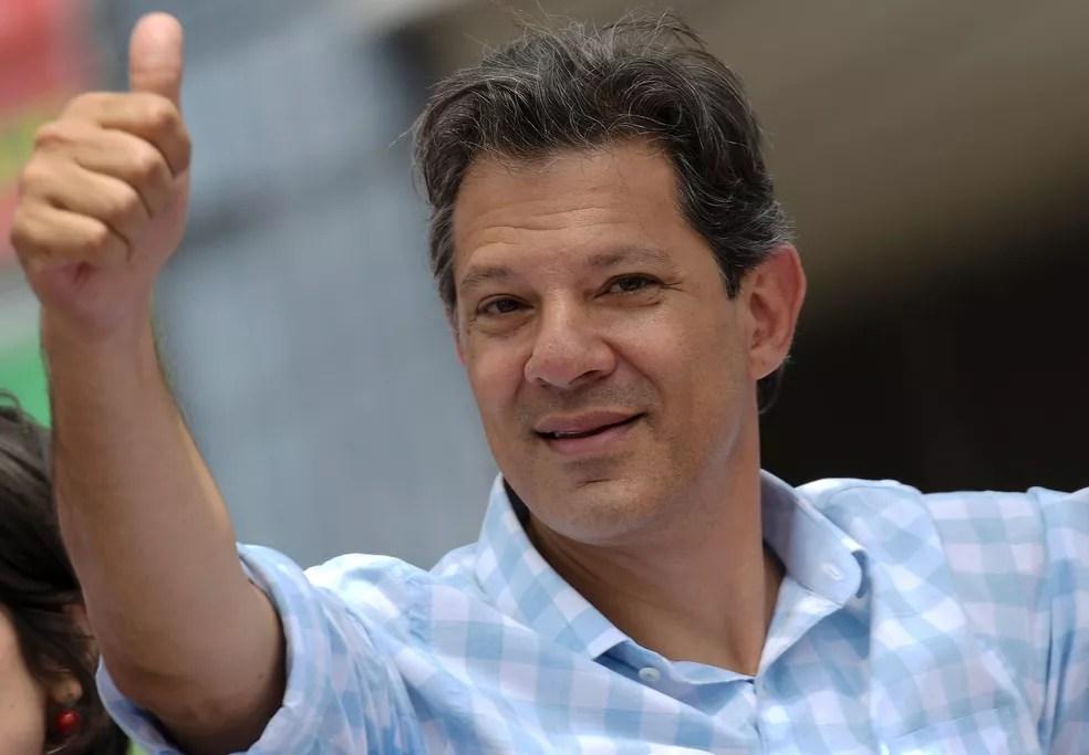 O candidato do PT à Presidência, Fernando Haddad — Foto: Washington Alves/Reuters