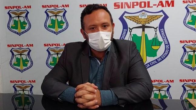 Presidente do Sinpol-AM, Jaime Lopes — Foto: Eliana Nascimento/G1 AM