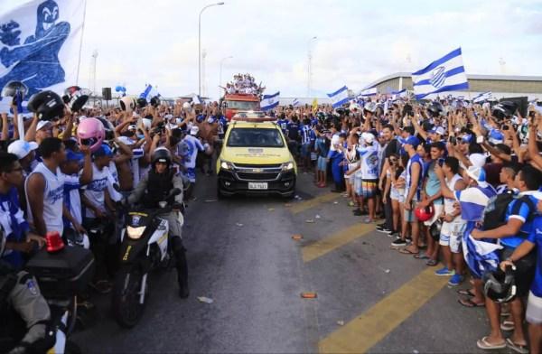 CSA desembarca no aerporto de Maceió — Foto: Ailton Cruz/Gazeta de Alagoas