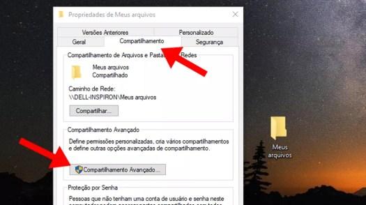 Acesse o compartilhamento avançado no Windows  (Foto: Reprodução/Paulo Alves)
