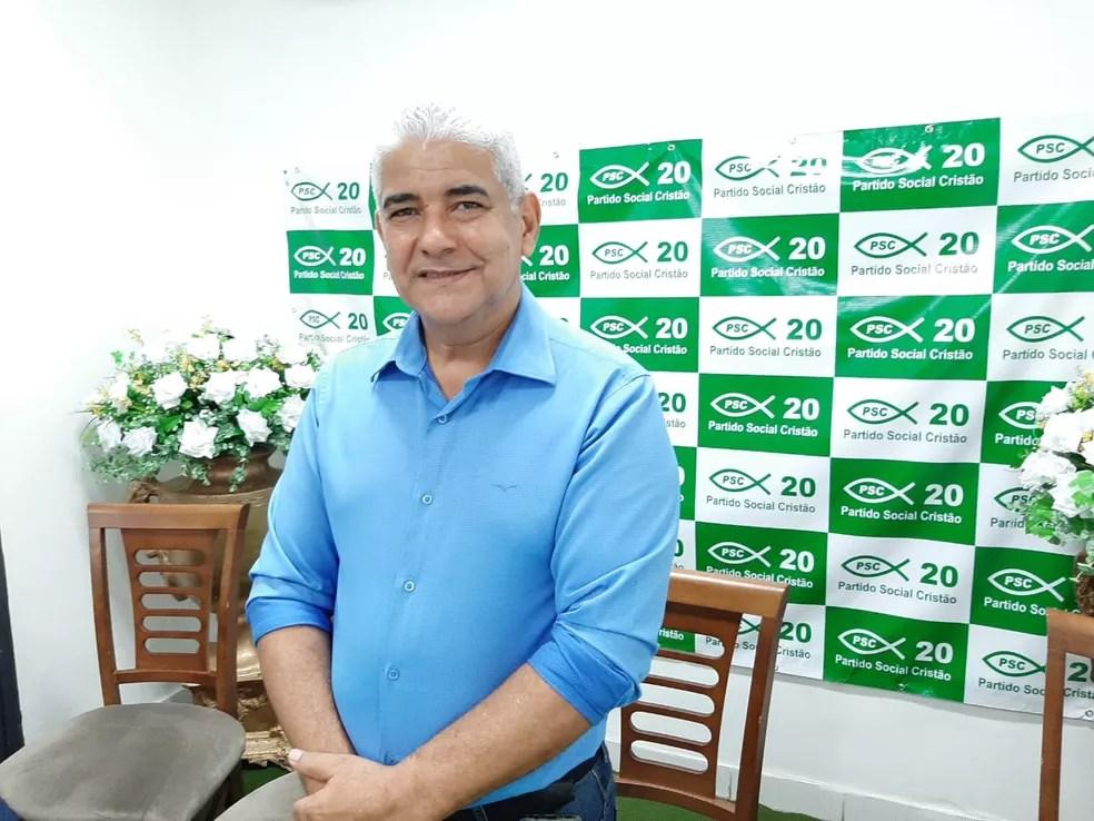 Edvaldo Soares foi o escolhido do PSC para disputar a vaga de prefeito de Porto Velho — Foto: Diêgo Holanda/G1