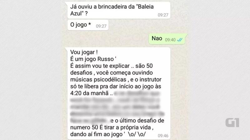 Mensagens trocadas por alunos de escola da zona sul de João Pessoa no WhatsApp explicam como funciona o